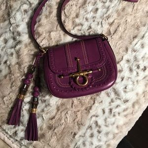 Gucci purple leather small shoulder bag